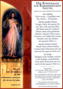 Barmherzigkeits Rosenkranz-