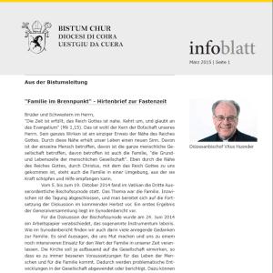Infoblatt des Bistums Chur