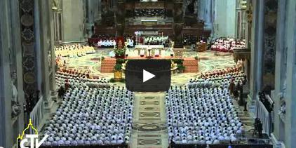 Chrisammesse, Vatikan