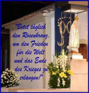 Betet täglich den Rosenkranz