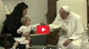 Prinzessin Leonore beim Papst