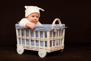 Baby im Wägelchen, Baby in Carriage