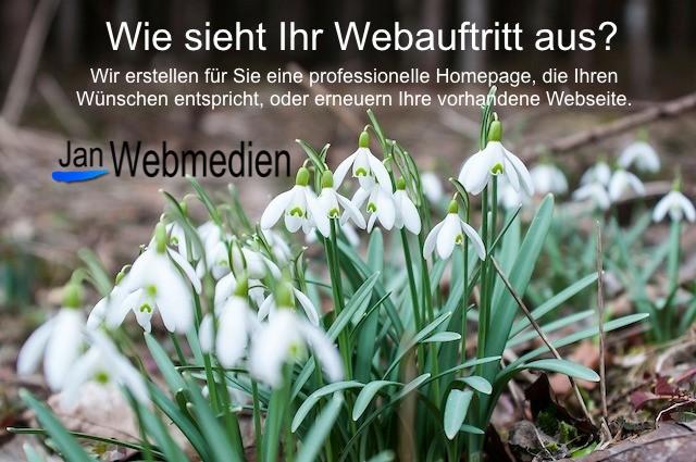 Jan Webmedien, Homepage erstellen