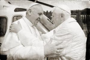 Papst Franziskus, Papst Benedikt XVI.