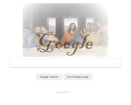 Google Doodle mit Jesus, Hoher Donnerstag, Gründonnerstag